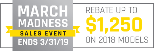 2018 March Madness Sales Event