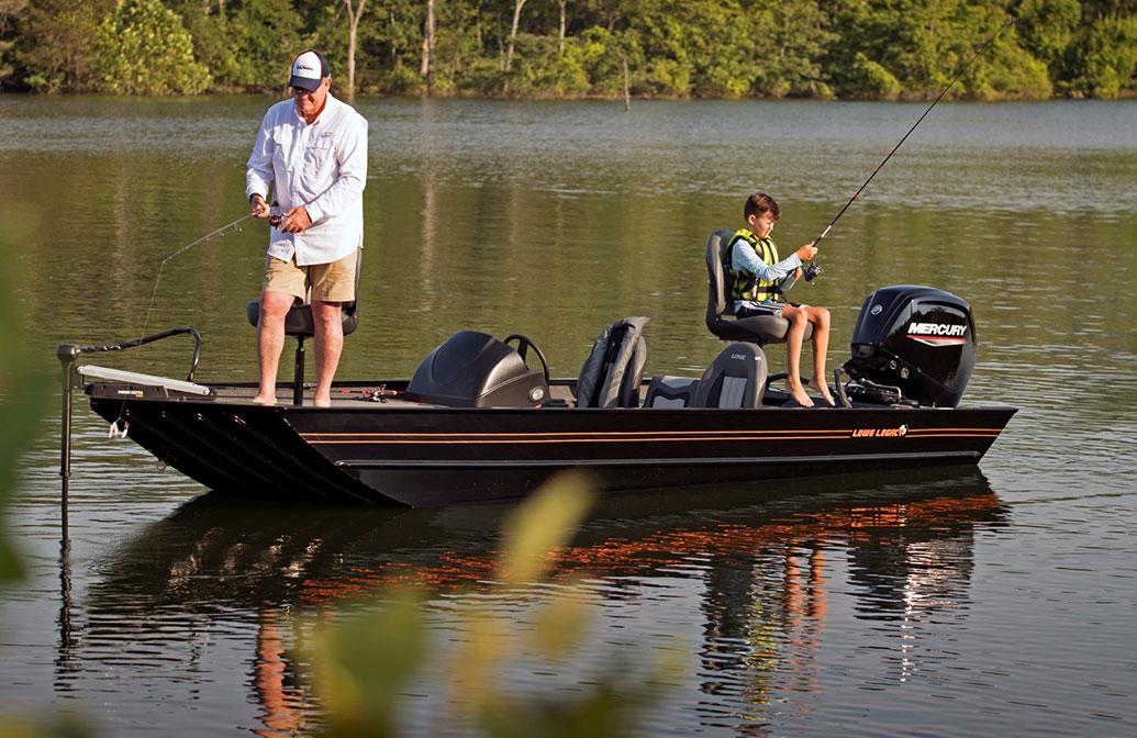 Lowe Legacy Boat Fishing