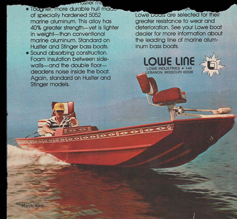 Lowe Boats Historical Bass Boat Photo