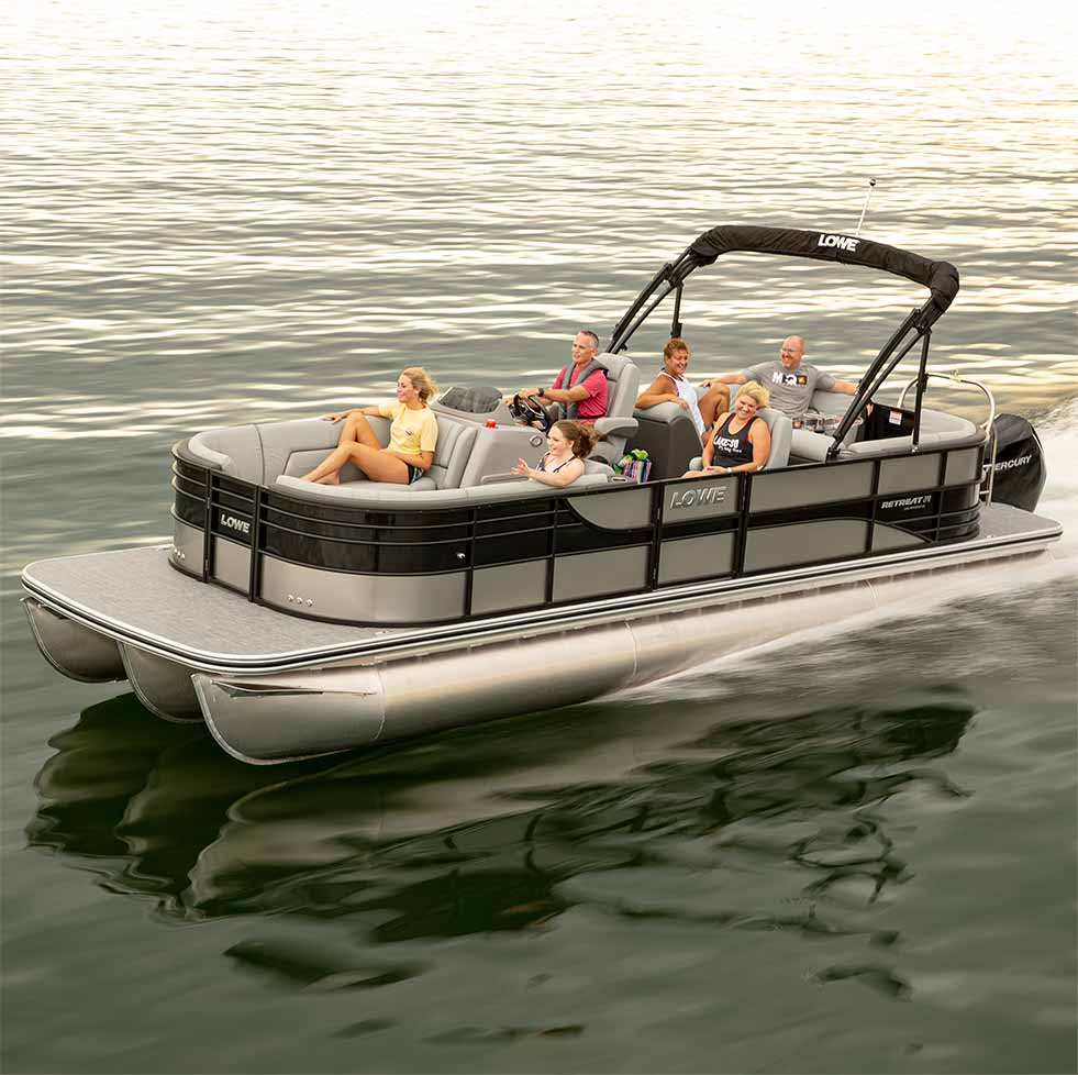 2020 Lowe Pontoon Boats Sport Fishing Party And Luxury
