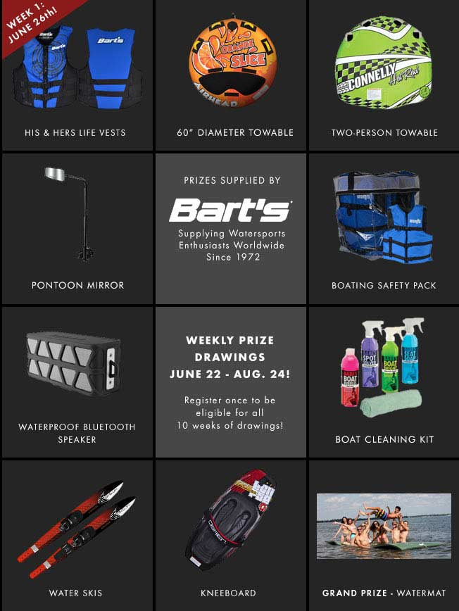 Pontoon Contest Prizes