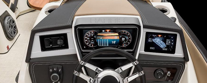 Touchscreen Pontoon Boat Dashboard Controls