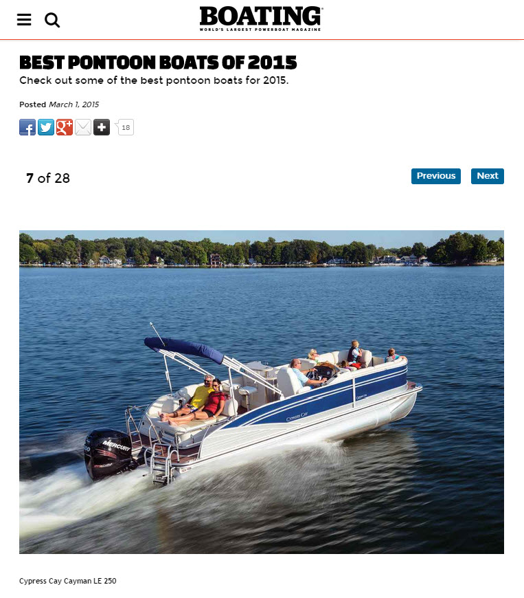 Best New Pontoon Boats